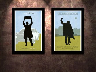 anything say breakfast club poster icons cusack john nelson judd print pack 80s limited edition molly ringwald cultclassicposters fist pump