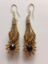 Black Stone Earring  The Original Brazilian Shop  Online