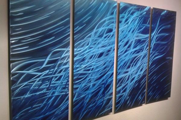 Ocean 36x63- Metal Wall Art Abstract Sculpture Painting