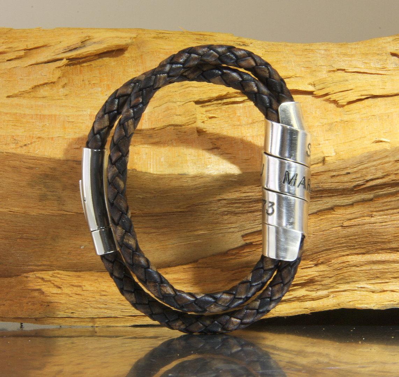 mens wrap bracelet custom