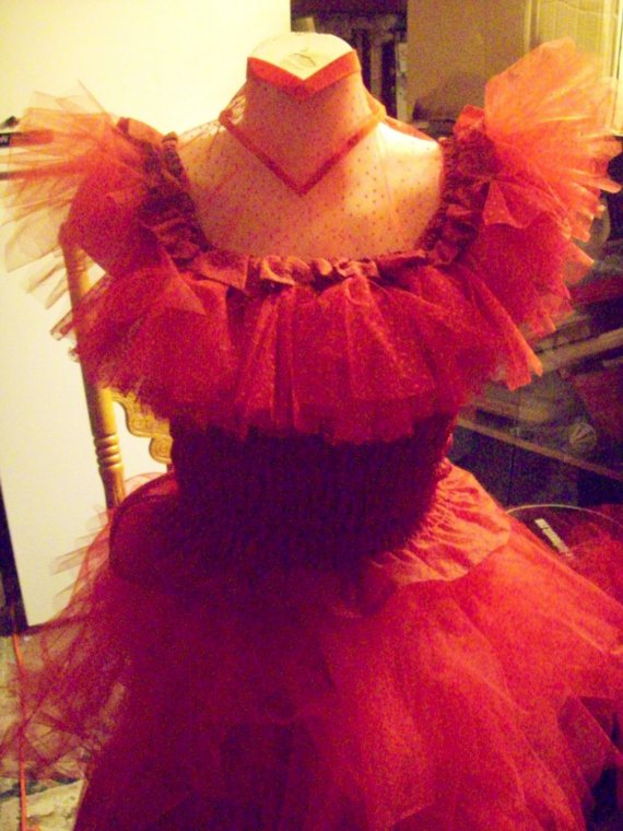 Beetlejuice Costume Red Wedding Dress Lydia Deetz Custom