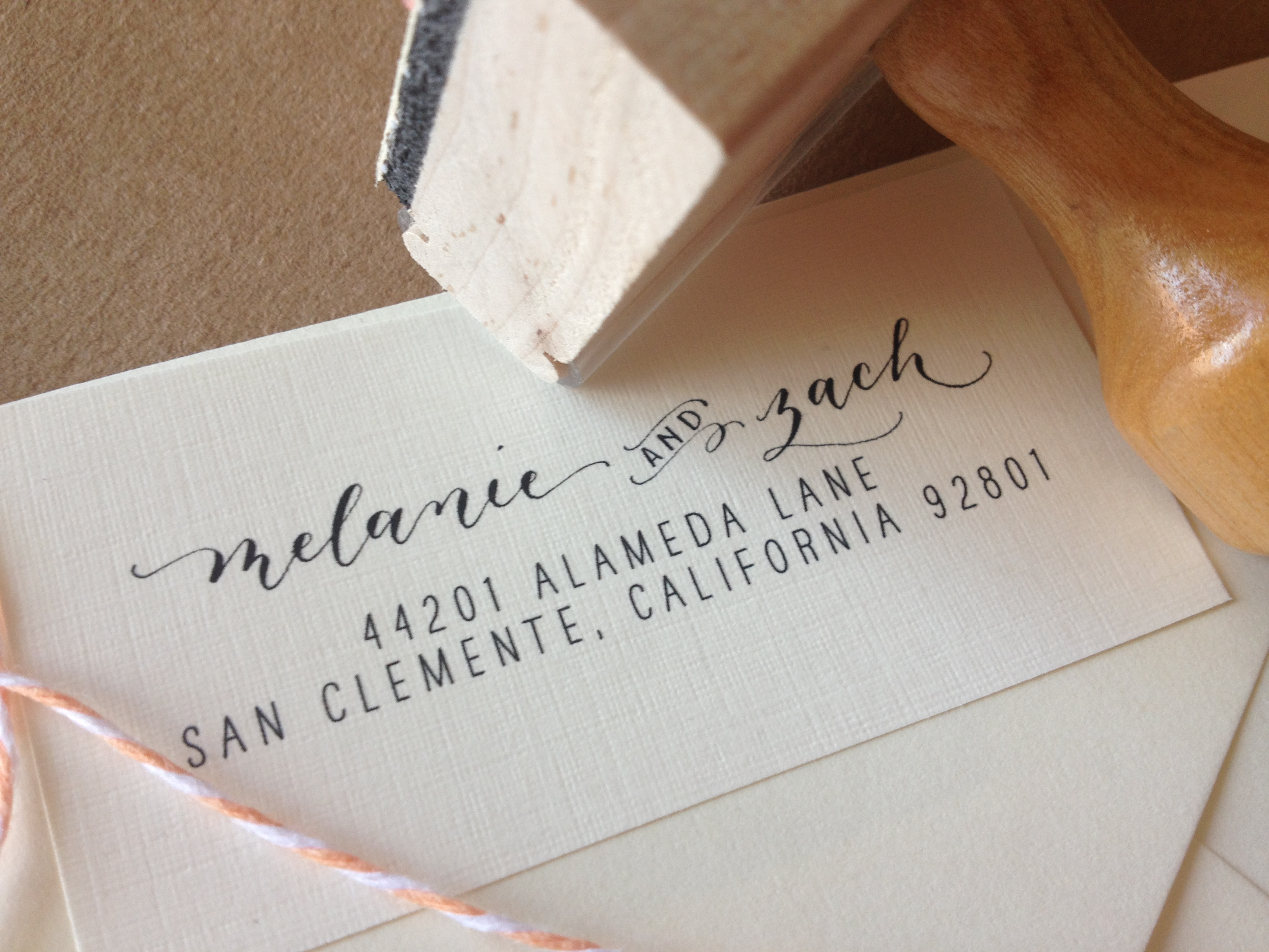 calligraphy address stamp custom