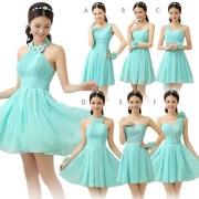 short bridesmaid dress mismatched