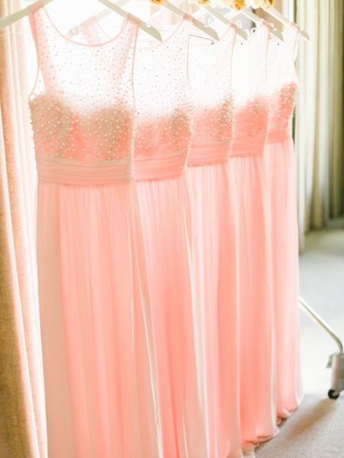 See through bridesmaid dresspeach bridesmaid dress