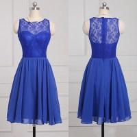 Popular Royal Blue Bridesmaid Dress, Sleeveless Chiffon ...