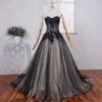 Black Lace Corset Wedding Dress