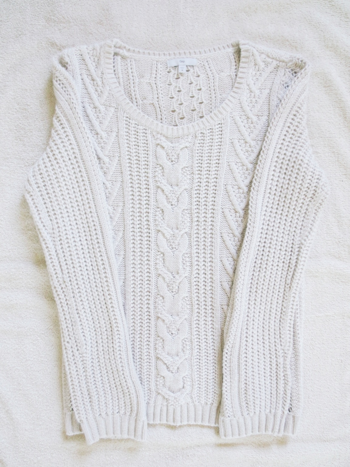 Chunky knit white sweater on Storenvy
