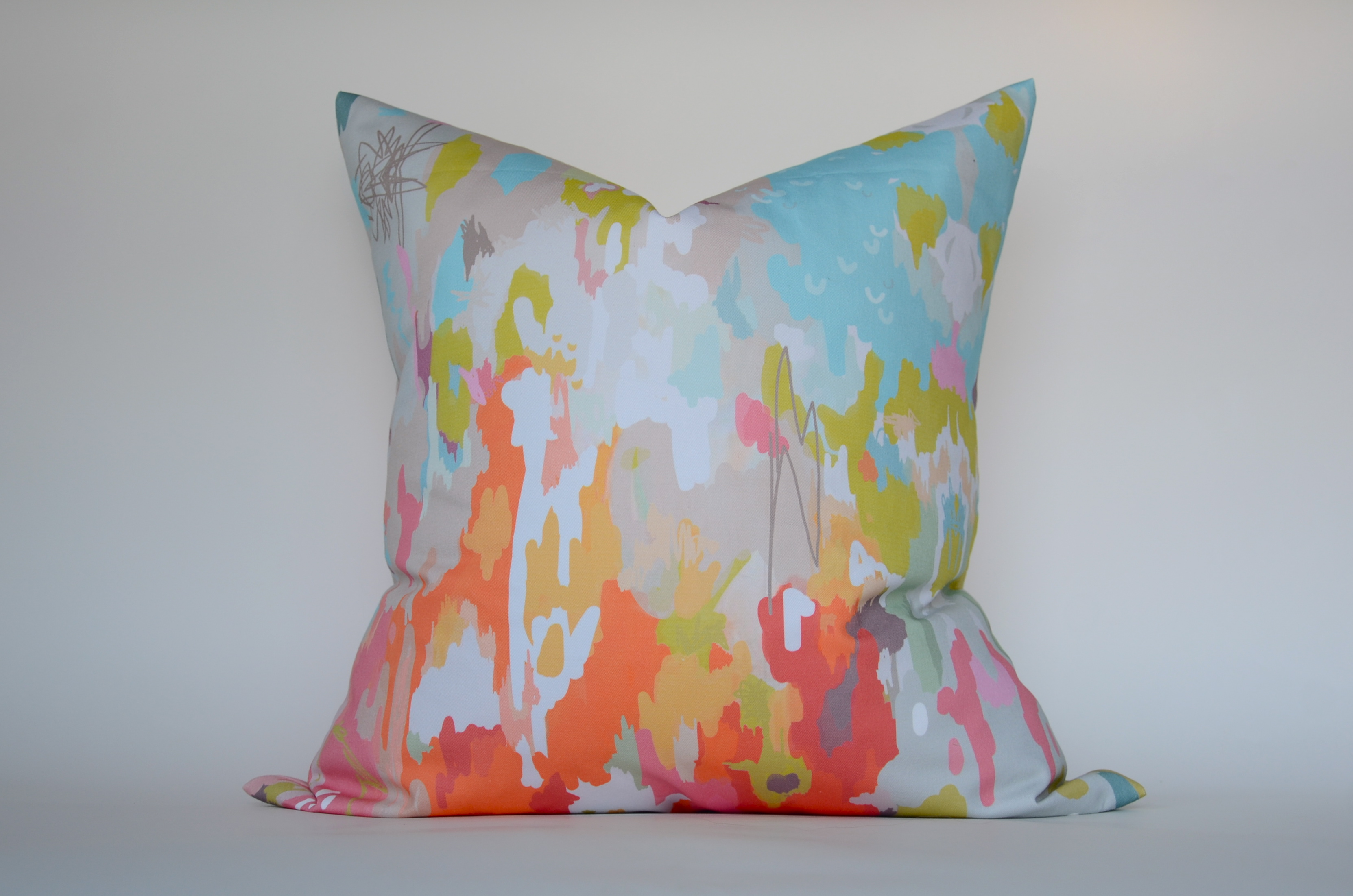 throw pillow in watercolor ikat on Storenvy