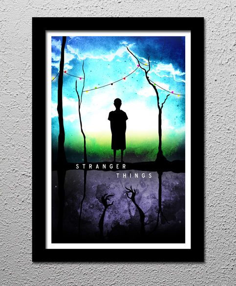 Stranger Things  Eleven  The Upside Down Art Poster