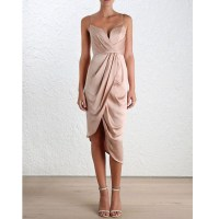 Unique short bridesmaid dress, cheap simple prom dress ...
