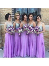 Long bridesmaid dress,purple bridesmaid dress,sparkly ...
