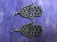 Hamsa Hand Earrings  Rainbows of Healing Boutique