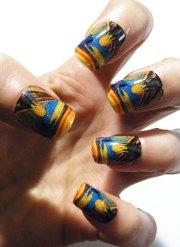 munch scream nail polish art