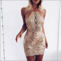 Sexy Sheath Sequins Mini Party Dress  modsele  Online ...