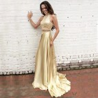 Gold Formal Dresses for Weddings