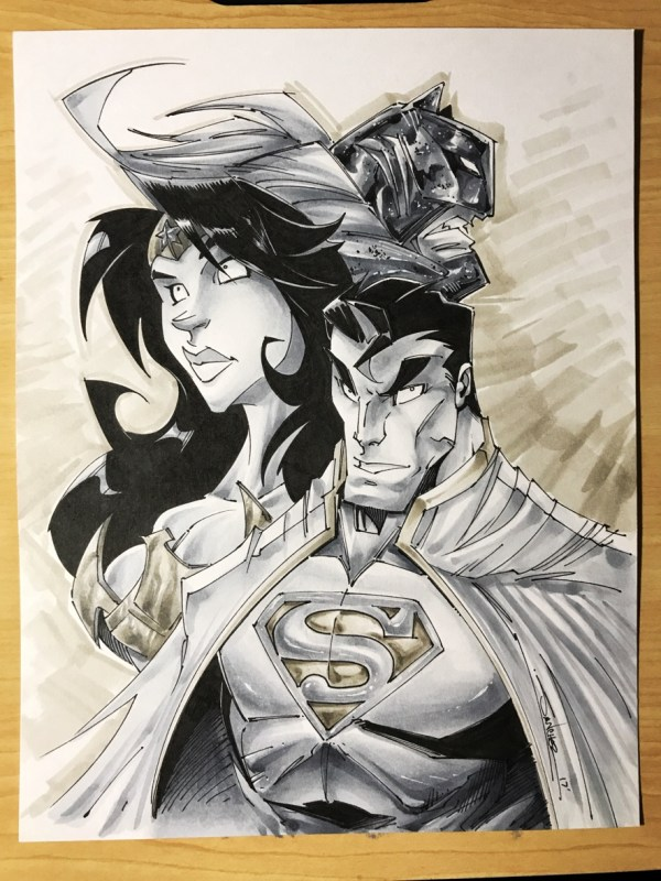 Batman Superman Wonder Woman Art