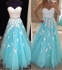 Lace Up Long Prom Dresses,Sweetheart Prom Dress,Beautiful ...