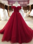 Burgundy Prom Dresses with Sleeves