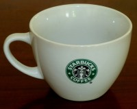 Starbucks Siren Logo Large White Soup Bowl Coffee Mug on