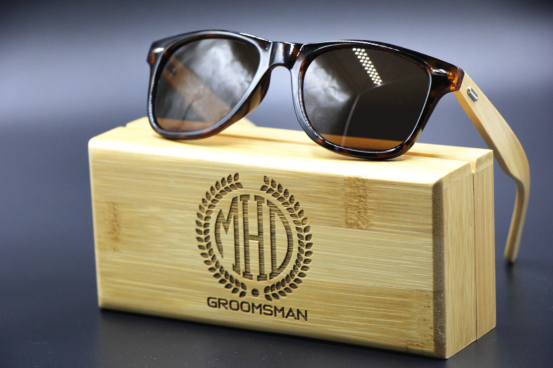 groomsmen gift engraved sunglasses