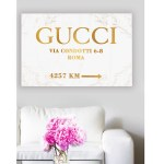 Wall Art Pop Art On Canvas Fashion Road Sign Luxury Glam Poster Pop Art Gucci Gallery Home Decoration 1111 20 X 30 Sold By Omgpopart