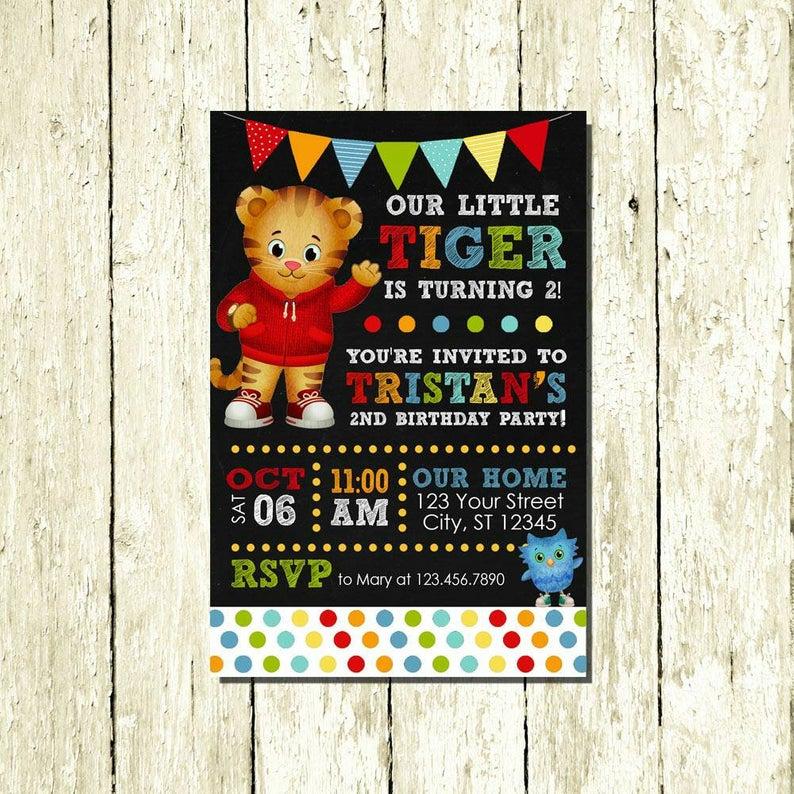 daniel tiger neighborhood invitations