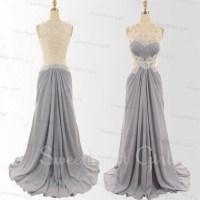 Sweetheart Girl | Charming Chiffon Floor-Length Lace Prom ...