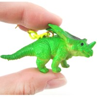 3D Triceratops Dinosaur Animal Figurine Dangle Earrings in ...