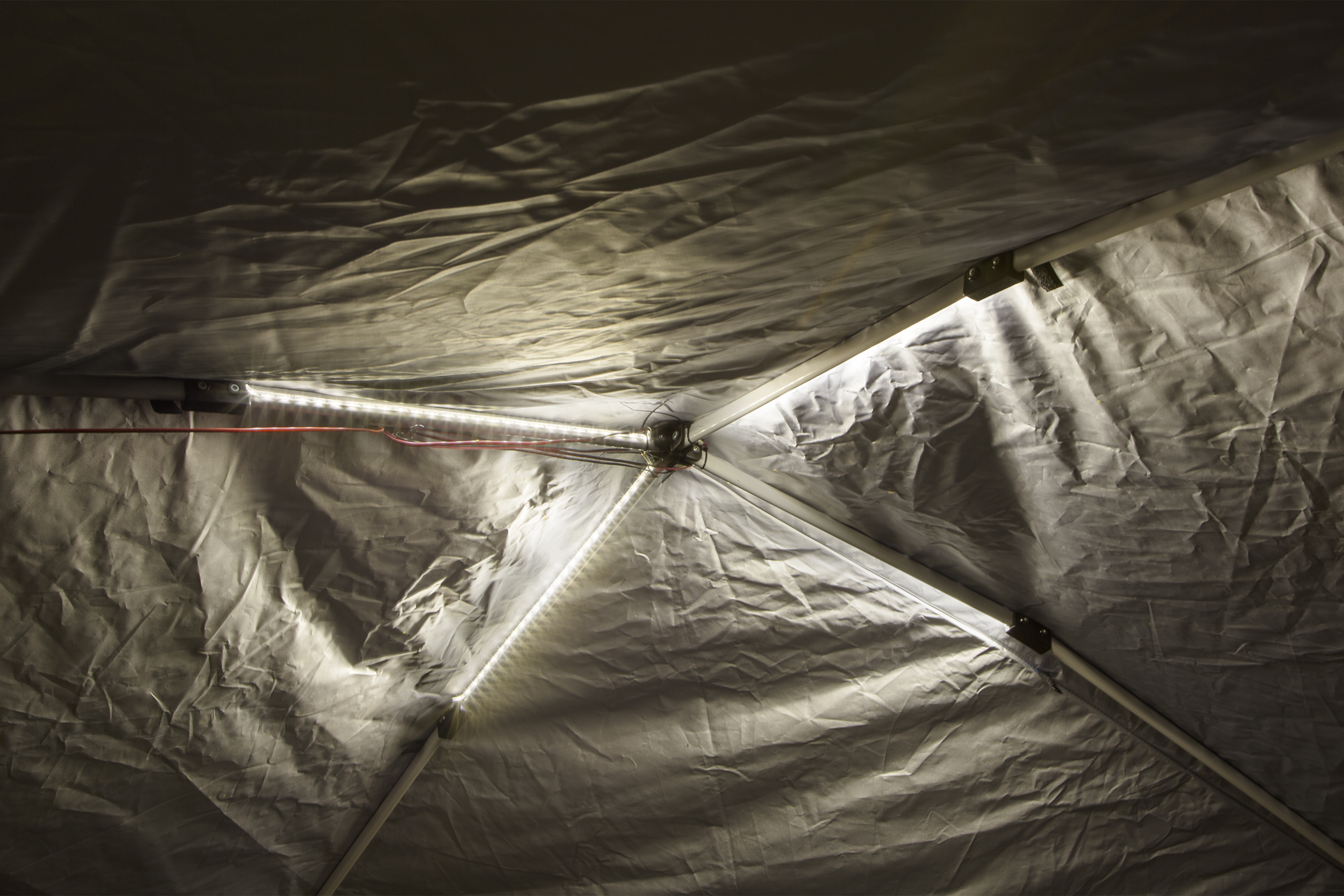 portable canopy tent lighting with led