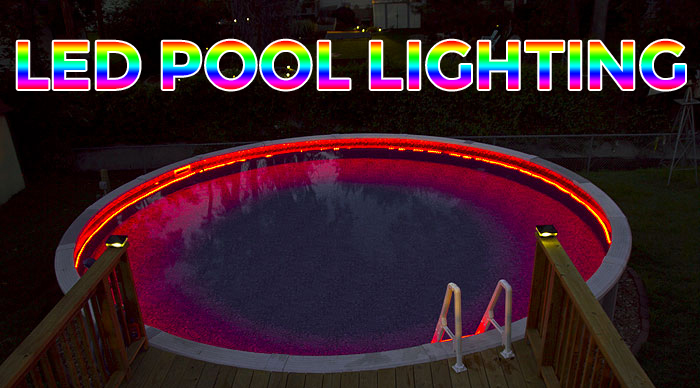 to install above ground led pool lights