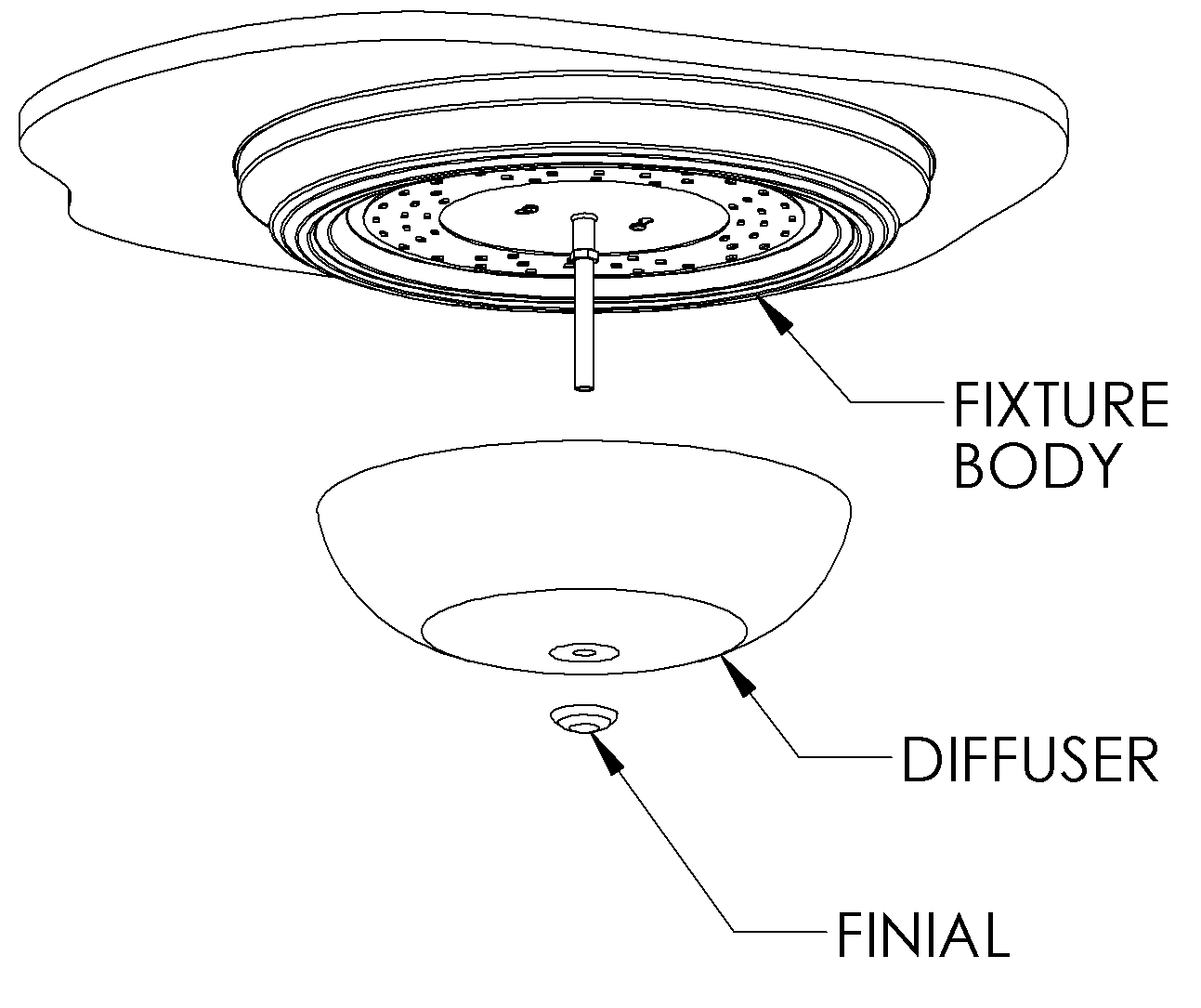 recessed lighting parts diagram beko electric cooker wiring 15 quot flush mount led ceiling light w oil rubbed bronze