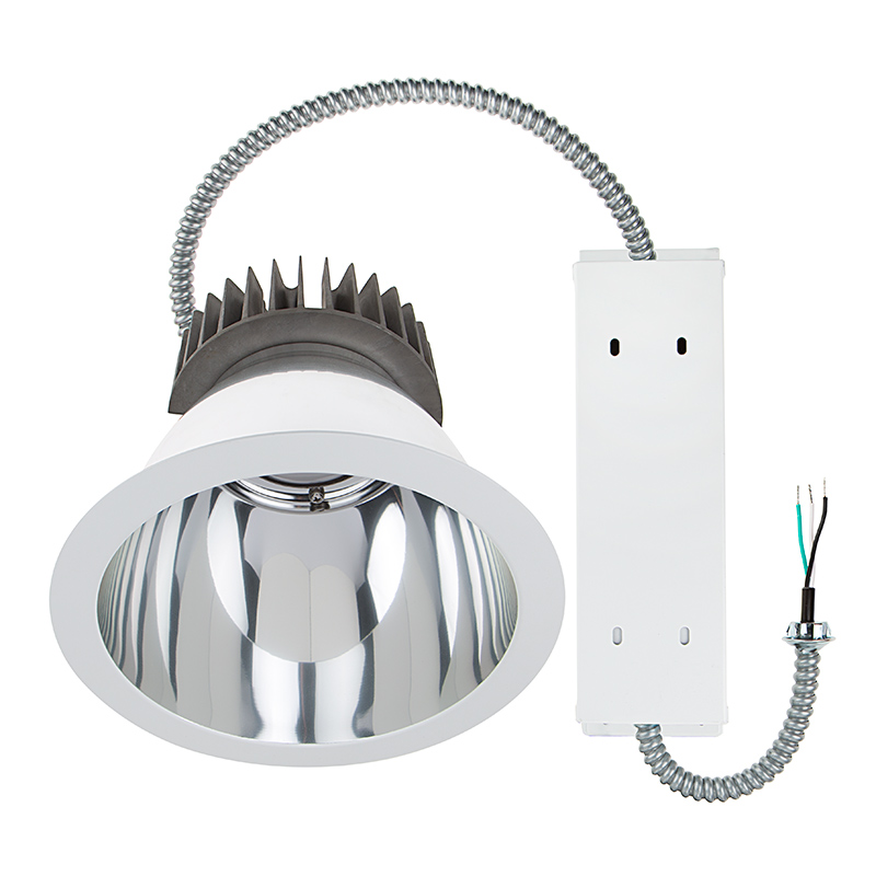 commercial led downlight retrofit for 10 cans recessed light with reflector trim 290w equivalent 2900 lumens