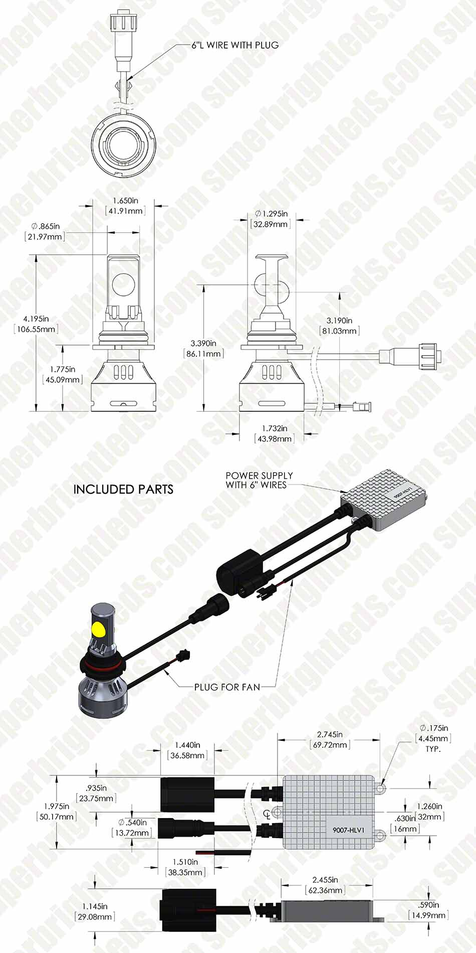 hight resolution of 9007 led bulb wiring diagram