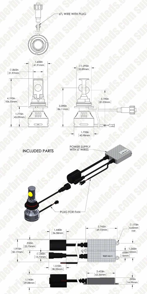small resolution of 9007 led bulb wiring diagram
