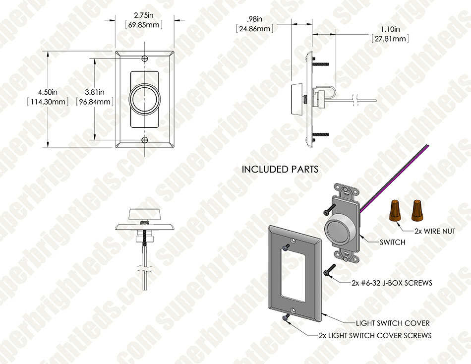 0-10 Volt DC Low Voltage Dimmer with Rotary Dimmer Switch