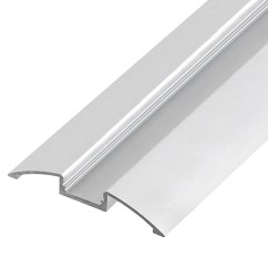 Chair Rail End Cap Folding Table And Chairs Walmart Angled Surface Mount Aluminum Profile Housing For Led Strip Lights - Anodized ...
