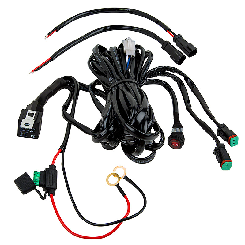 LED Light Wiring Harness with Relay and Weatherproof
