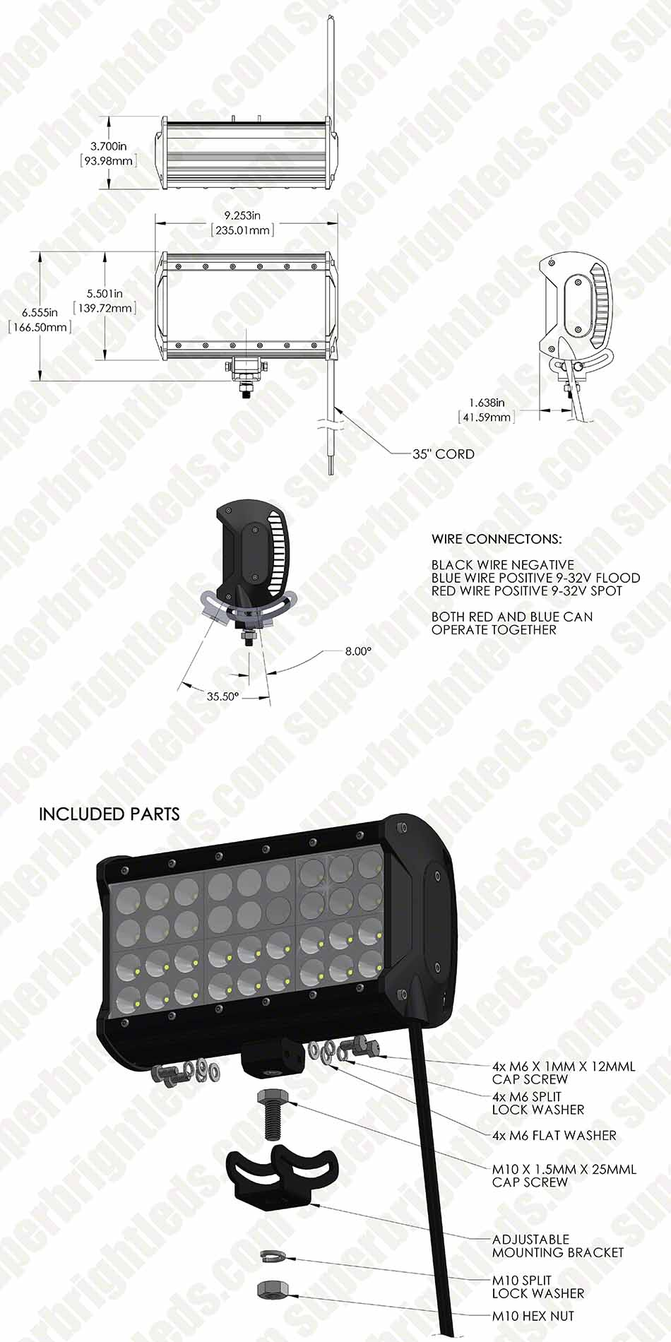 hight resolution of 9 quad row heavy duty off road led light with multi beam technology 85w