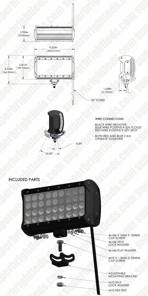 small resolution of 9 quad row heavy duty off road led light with multi beam technology 85w