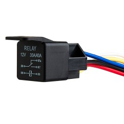 5 Prong Relay Wiring Diagram 12 Volt Double Pole Throw Pioneer Deh 2800mp 12v Dc 30 40a Pin Universal Super Bright Leds 12vdc Connected To R5 Sw