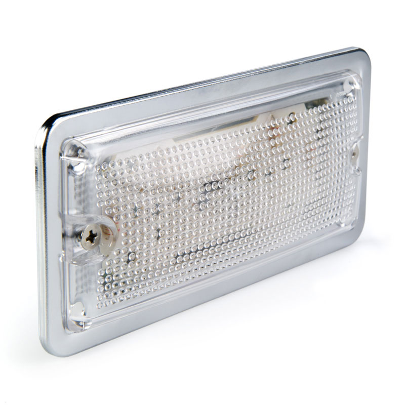 5.75 Rectangular LED Dome Light Fixture w/ Chrome Housing