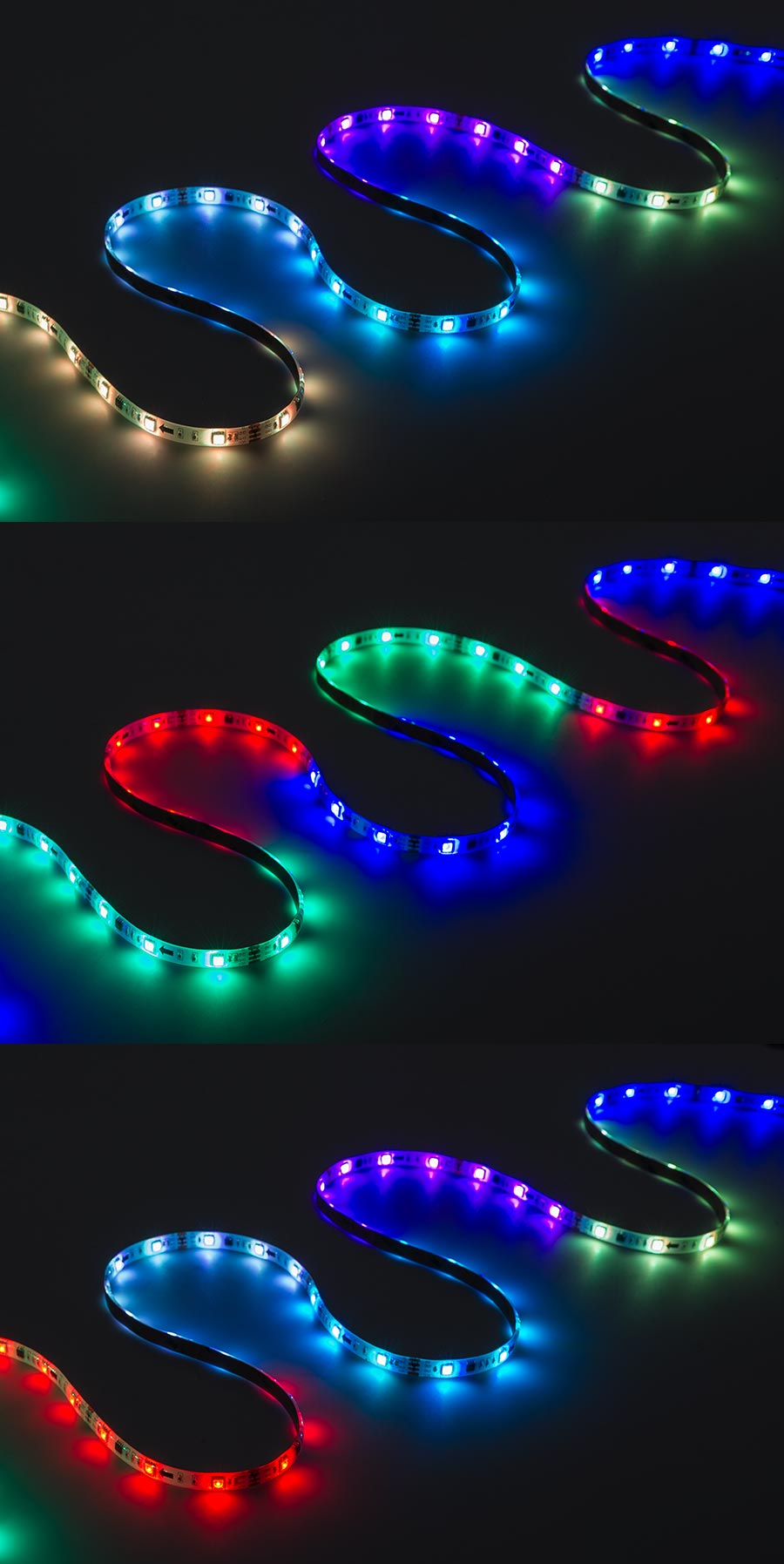 medium resolution of waterproof color chasing led light strips with multi color leds 16 40ft 5m outdoor led tape light with 18 smds ft 3 chip rgb smd led 5050 on showing