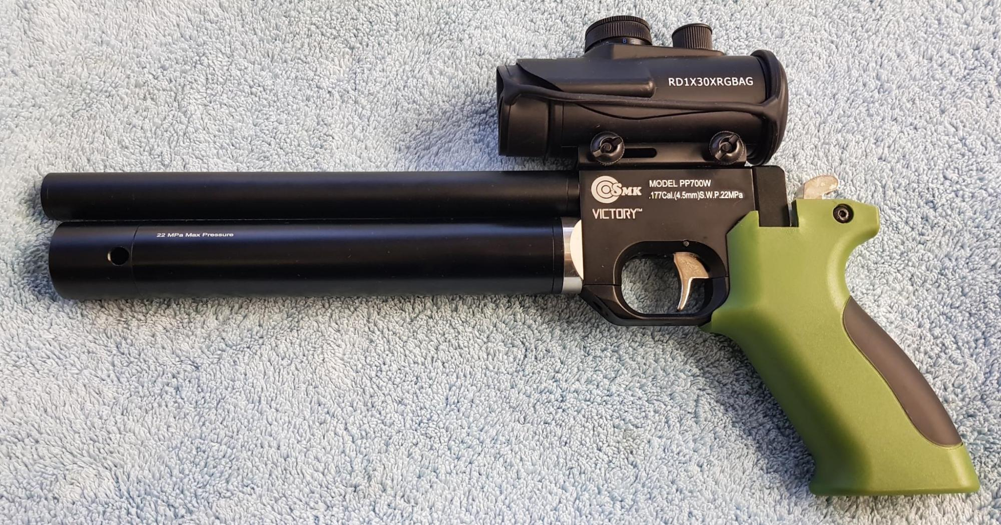 hight resolution of special offergreen grip 700 with sight 190 00 as shown above collected and 213 00 with silencer adaptor fitted