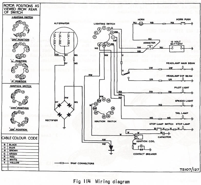 bsa a50 wiring diagram