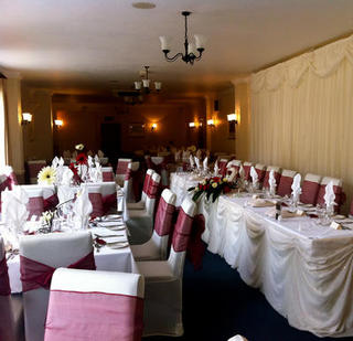 wedding chair covers doncaster bright starts ingenuity high font color purple
