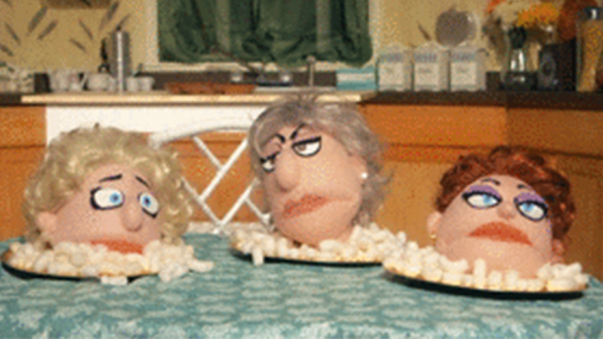 That Golden Girls Show Puppets Recreate Iconic TV Moments as GIFs  The Daily Scoop