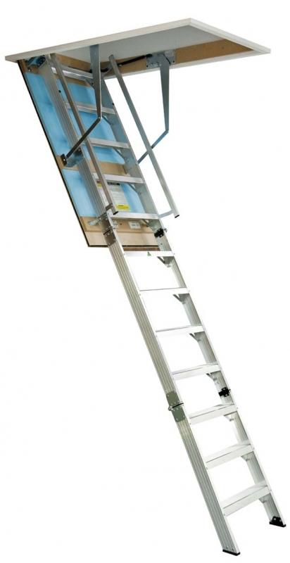 Attic pull down ladder