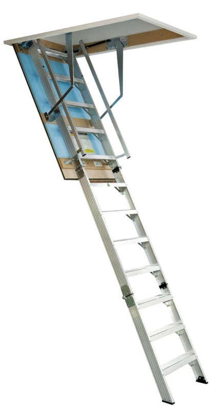 Attic pull down ladder