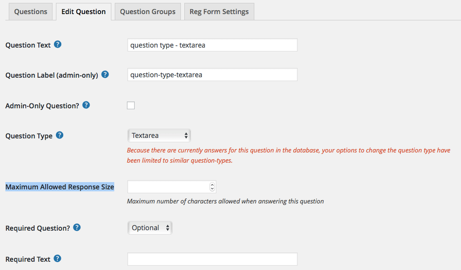 Ask custom questions in your event registration forms
