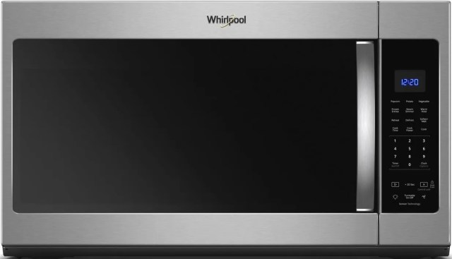 whirlpool over the range microwave fingerprint resistant stainless steel wmh32519hz